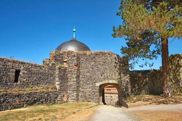 Entrada da fortaleza de stolpen na saxônia, alemanha