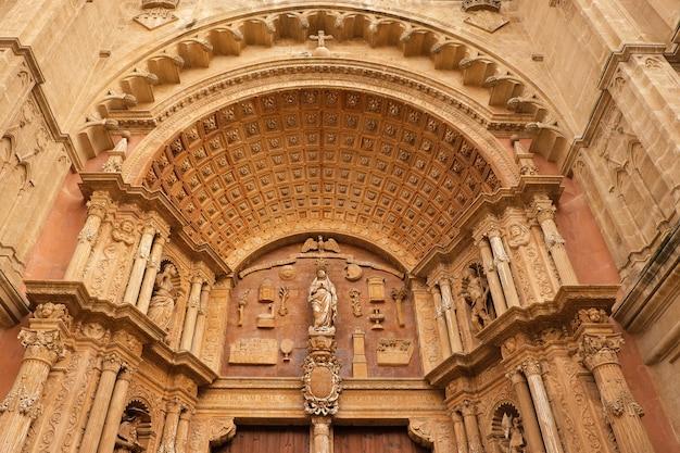 Entrada dianteira, palma mallorca, catedral gótica, santa maria, la, seu