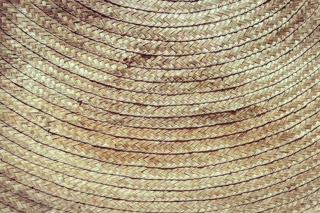 Entrançado de bambu de vime trançado detalhe de artesanato asiático textura tom vintage para o fundo