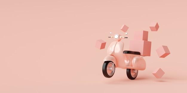 Entrega de comida por scooter