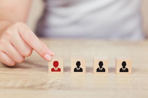 Entregue o recurso humano do negócio, empregado do recrutamento e talento