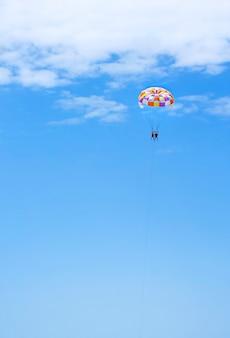 Entretenimento em um paraquedas