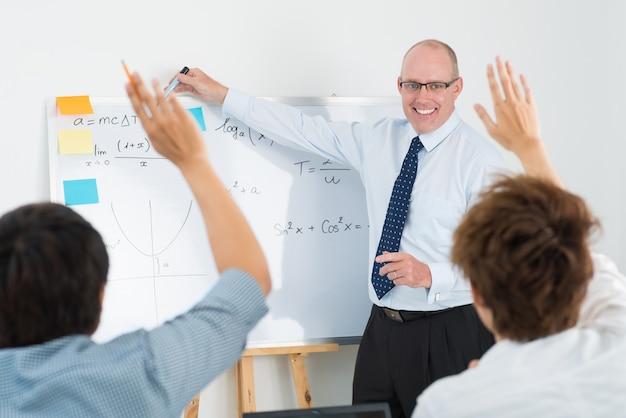 Entusiasmo da sala de aula
