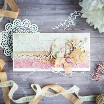 Envelope artesanal romântico