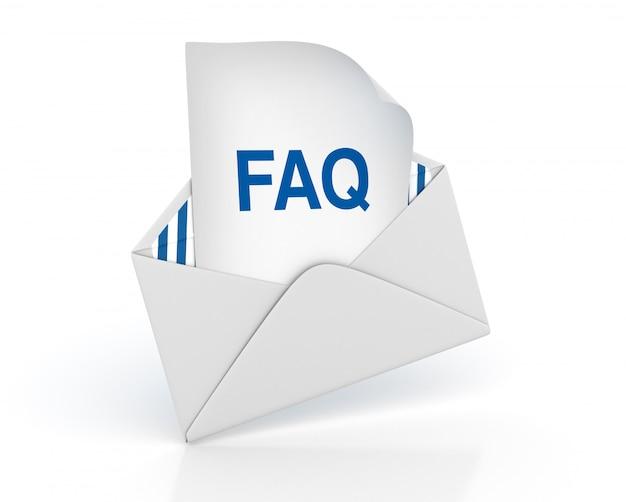Envelope com a palavra faq