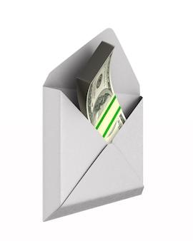Envelope com dinheiro em branco.