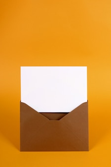 Envelope marrom com carta