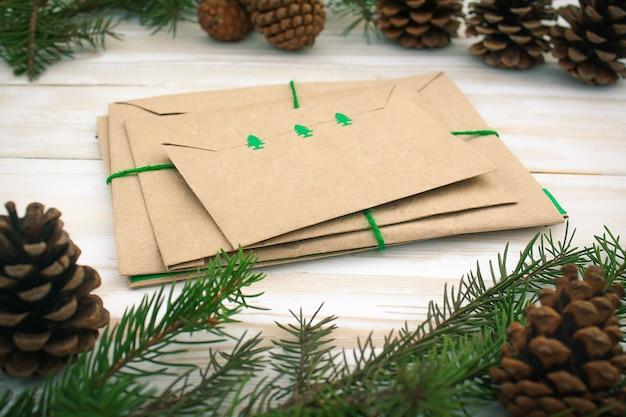 Envelopes para cartas de natal e inverno