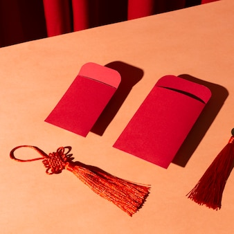 Envelopes vermelhos do ano novo chinês de 2021