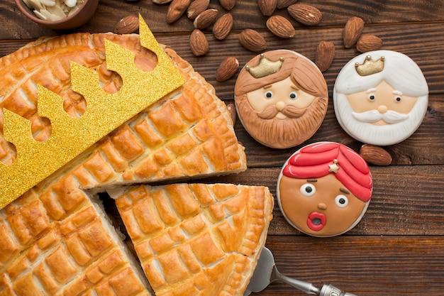 Epifania sobremesa torta caseira e biscoitos