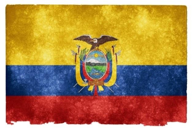Equador grunge bandeira
