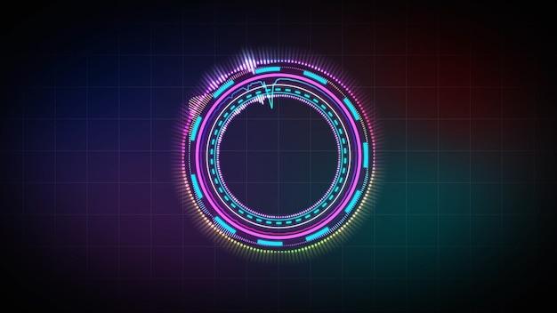Equalizador de música holograma, festa musical