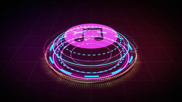 Equalizador de música holograma