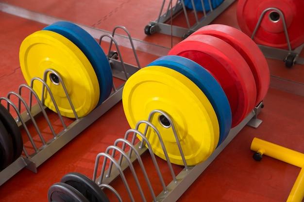 Equipamento da barra do levantamento de peso do gym da aptidão de crossfit