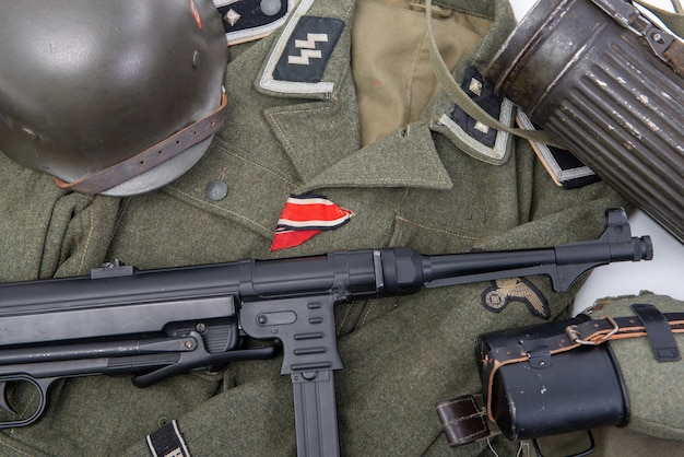 Equipamento de campo do exército ss alemão