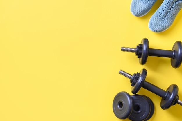 Equipamento de esporte e fitness.