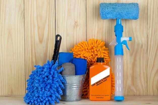 Equipamento de lavagem de carro ou produto de limpeza de carro, como tanque de microfibra e limpador de vidro