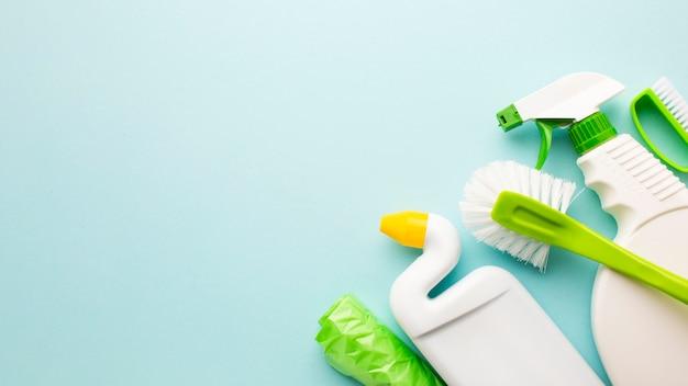 Equipamento de limpeza com espaço para texto