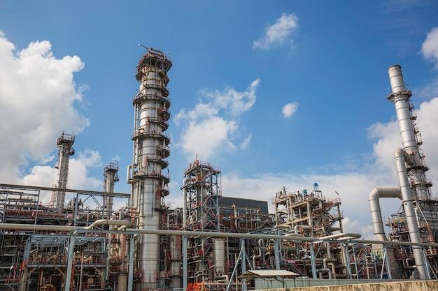 Equipamento de planta de refinaria para tubulação de óleo e gás
