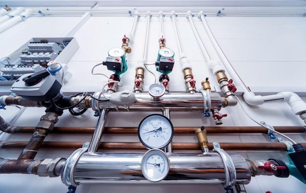 Equipamento de sala de caldeira para sistema de aquecimento moderno