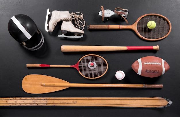 Equipamento desportivo vintage