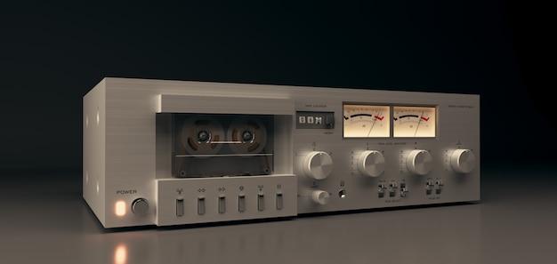 Equipamento estéreo de áudio e música, toca-fitas