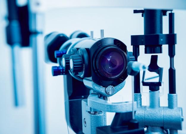 Equipamento oftálmico. laboratório médico. tecnologia médica moderna.