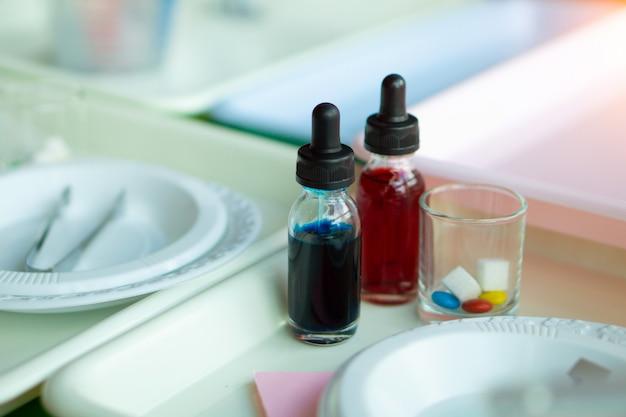 Equipamento para as crianças experimentarem a ciência do açúcar