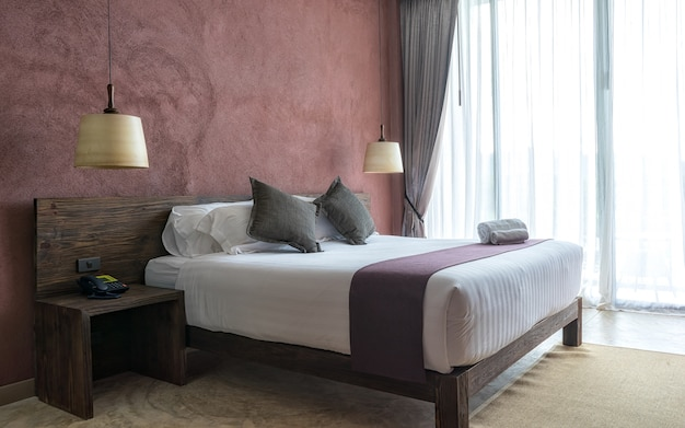 Equipamento para uma experiência confortável e repousante no quarto moderno