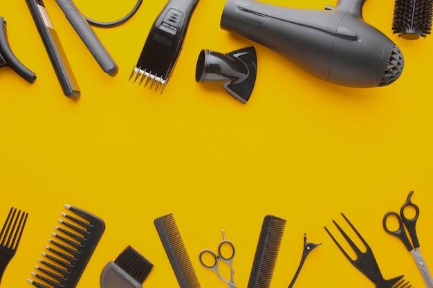 Equipamento profissional de cabeleireiro