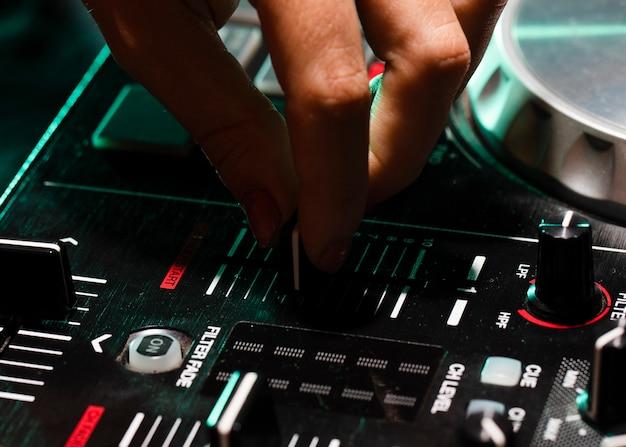 Equipamento profissional de close-up para dj