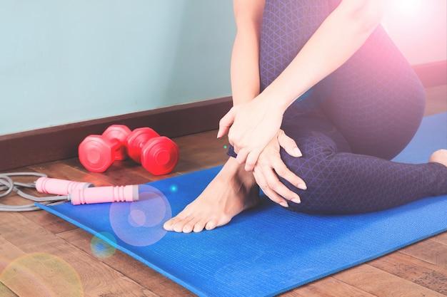 Equipamento roll calm fitness down person