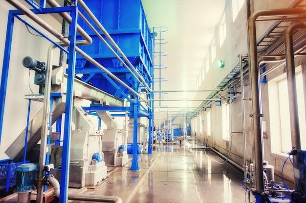 Equipamento tecnológico para fabricação de amido, limpeza e processo