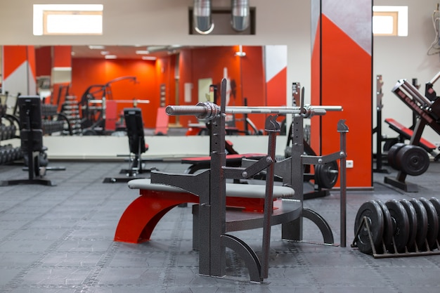 Equipamentos no ginásio