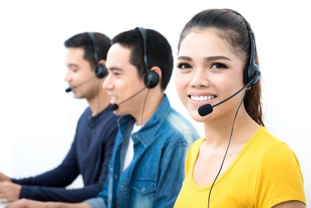 Equipe casual de call center
