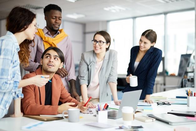 Equipe de negócios criativos