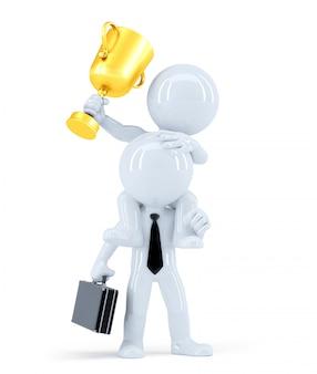Equipe de negócios e prêmio