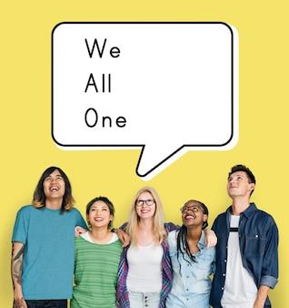 Equipe de suporte da comunidade we all one unity