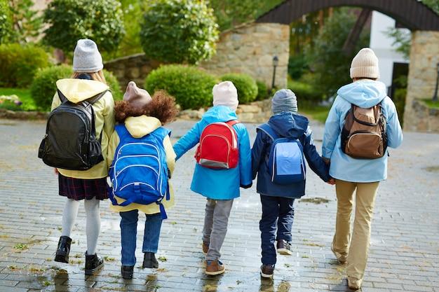 Equipe de volta à escola