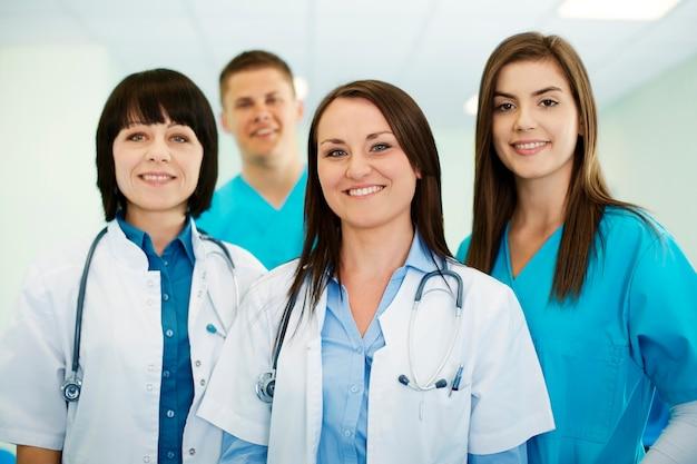 Equipe médica de sucesso