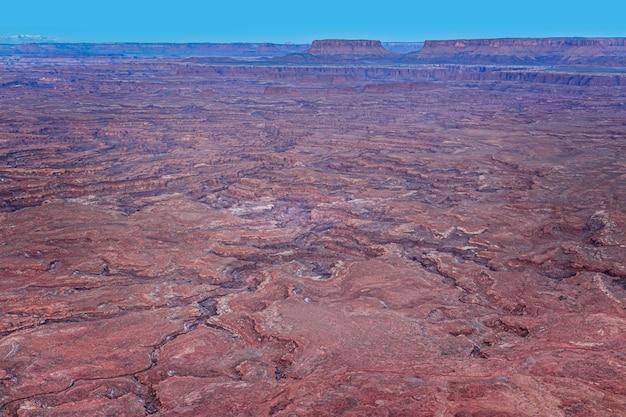 Erosão no parque nacional canyonlands, utah