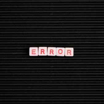 Error word grânulos alfabeto tipografia