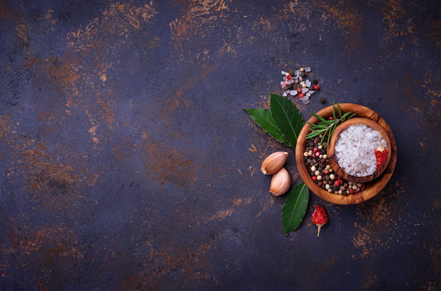 Ervas e especiarias. fundo culinário