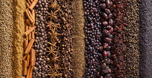 Ervas e especiarias indianas
