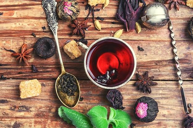 Ervas para chá e cozinha