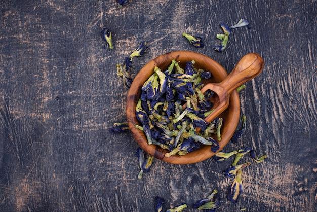 Ervilha de borboleta azul chá ou anchan