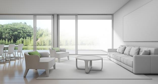 Esboçar o design da casa de férias moderna para a grande família.