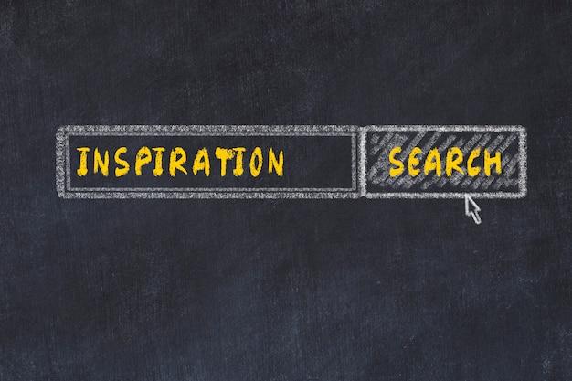 Esboço da placa de giz do search engine. conceito de procura de inspiração