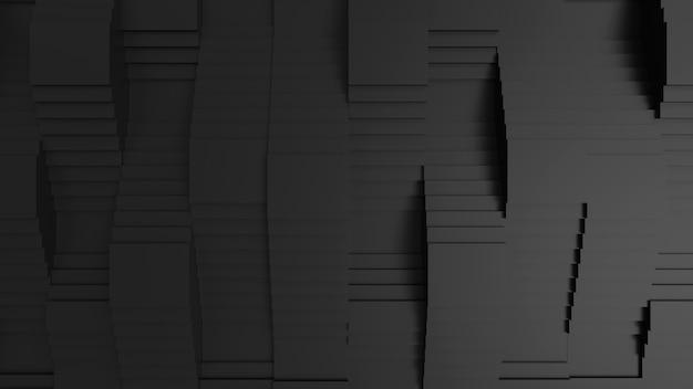 Escada de cor preta ilustração abstrata conceito de projeto arquitetônico papel de parede