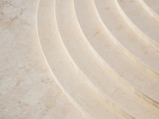 Escada em mármore. vista do topo.